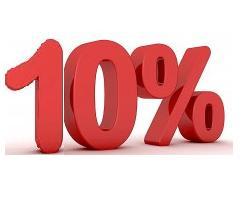 PROMOCION 10% NO REEMBOLSABLE